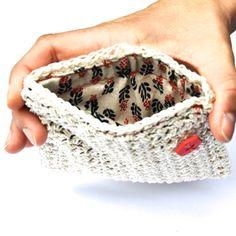 CROCHET PATTERN - DIY - pouch, wallet crochet pattern, purse, credit card purse pattern, sewing pattern, coin purse pattern, crochet idea