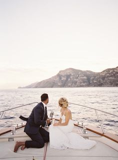 Jan 12 Destination Elopement Positano Italy - I'm gonna love you forever ❤️ - Yacht wedding Boat Wedding, Yacht Wedding, Italy Wedding, Elope Wedding, Elopement Wedding, Wedding Blog, Wedding Ideas, Dream Wedding, Elopement Ideas