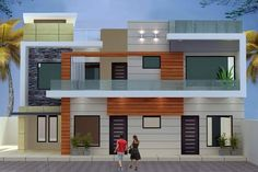 House Outer Design, House Front Design, Modern House Design, Villa Design, Village House Design, Bungalow House Design, Front Elevation Designs, House Elevation, Modern Bungalow House