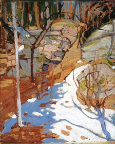 The Athenaeum - Snow and Rocks (Tom Thomson - )