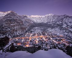 Winter Twilight over Ouray : Ouray, Colorado : Mountain Photography by Jack Brauer