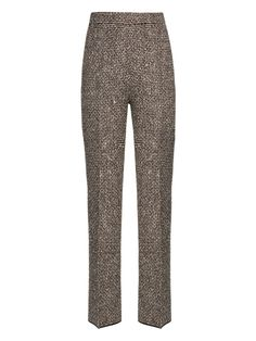 I love tweed on my bottom half to add volume and class.    Plus, the high waist and straight leg cut is good on me.  Giambattista Valli Embellished tweed trousers