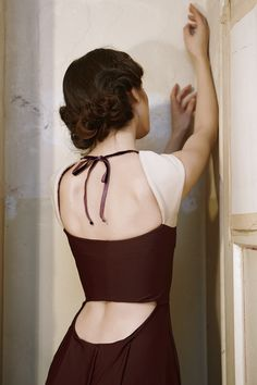 KNAPP The Post-war collection A/W 12/13 on Fashion Served #backless #hair  LOVE this