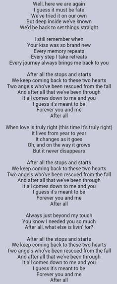 After all song lyrics