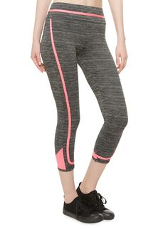 Performance Capri Leggings With Piping And Contrast Hems Sweat It Out, Rainbow Shop, Capri Leggings, Skinny Legs, Contrast, Tights, Sweatpants, Workout, Stylish