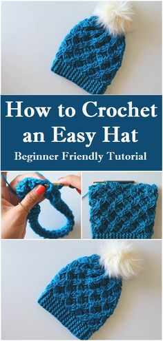 Crochet an Easy/Beginner Friendly Hat Crochet an Easy/Beginner Friendly Hat,Crafting Time The colder days are coming so we better star our preparation by crocheting this cute and very easy hat Related Ideas For. Easy Crochet Hat, Crochet Beanie Pattern, Crochet Hooks, Crochet Hat Tutorial, Wire Crochet, Crocheted Hats, Knitted Hat, Easy Crochet Projects, Crochet Crafts