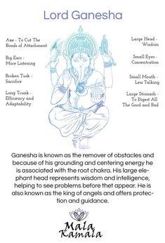 Who is Ganesha or Ganesh? Spiritual Yoga Symbols and What they Mean. Mala Kamala Mala Beads - Boho Malas, Mala Beads, Yoga Jewelry, Meditation Jewelry, M Lord Ganesha, Reiki, Namaste Symbol, Om Symbol, Om Gam Ganapataye Namaha, Spiritual Symbols, Spiritual Health, Buddha Symbols, Sanskrit Symbols