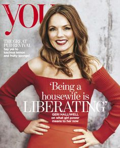 Geri Halliwell featured on the cover of YOU magazine wearing the Georgia Hardinge SS16 Hera Skirt.