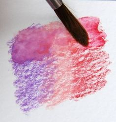 watercolor pencils blending More