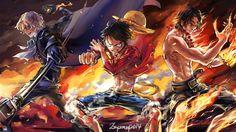 Yangın Yumruk Sabo Luffy Ace duvar kağıdı High Definition 1080p