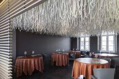 L'Air du Temps Restaurant — Eghezée, Belgium | unusual installation by Quentin de Coster.