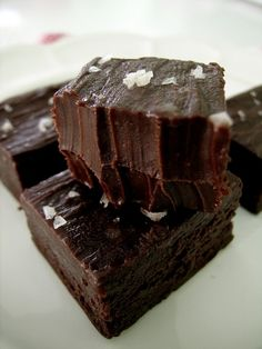 Nutella sea salt fudge
