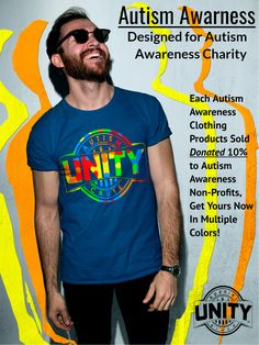 057b9278848 Autism awareness clothing Made For You, Designed For Autism Awareness  charity. Unity Apparel Brand
