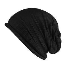 FUNOC Unisex Women Men Winter Warm Ski Knitted Crochet Baggy Beanie Hat Cap Beret at Amazon Women's Clothing store: