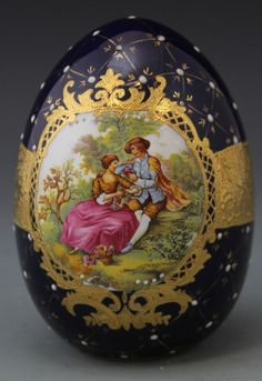 LARGE LIMOGES PORCELAIN EGG : Lot 47213