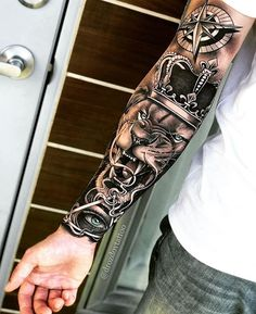 70 Pictures of Forearm Tattoos for Men Photos and T .- 70 pictures of forearm tattoos for men photos and tattoos - Lion Forearm Tattoos, Lion Head Tattoos, Forarm Tattoos, Leg Tattoos, Body Art Tattoos, Tattos, Tattoo Arm, Tribal Arm Tattoos, Type Tattoo
