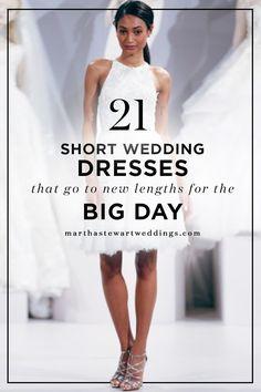 21 Short Wedding Dresses that Go to New Lengths for the Big Day | Martha Stewart Weddings