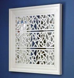 Paintable O'verlays that come in several patterns and sizes. Easily attach to Furniture, Mirrors, Walls and Glass. Compatible with popular IKEA pieces. Perfect example~luv this Mirror example.