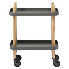 Dark grey Block table by Normann Copenhagen.
