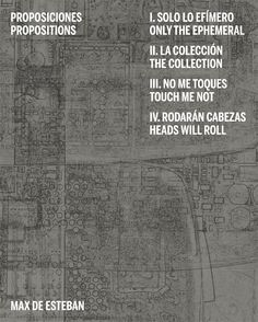Este libro reúne cuatro series fotográficas realizadas por Max de Esteban. Estos trabajos están vinculados entre sí en una secuencia que revela la variedad de temas. Max de Esteban aporta ideas, pensamientos y aforismos que nos invitan a entrar en su complejidad y en su contundente delicadeza.