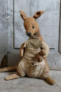 antique kangaroo toy