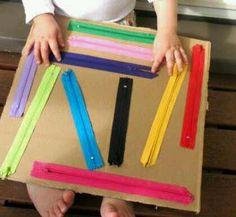 Un juego con cremalleras de colores para trabajar la psicomotricidad fina » Actividades infantil