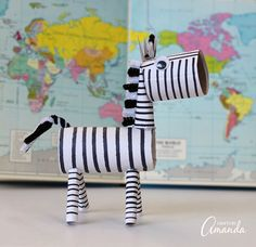 Cardboard Tube Zebra | Fun Family Crafts