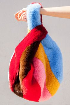 A rainbow faux-fur bag, this is the stuff of dreams.