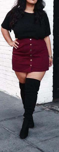 winter outfits plus size Curvy Plus Size Fashion fr Frauen - - groe Gren Mode fr Mollige Look Plus Size, Curvy Plus Size, Plus Size Women, Curvy Fashion Plus Size, Plus Size Hair, Plus Size Style, Plus Size Fasion, Fashion Mode, Curvy Women Fashion