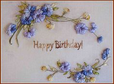 Ribbon embroidery for a birthday present step-by-step workshop for beginners by Little Owl SmartCrafts TM