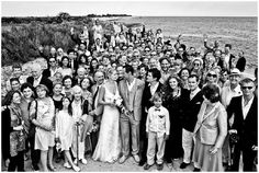group wedding photos on private beach in France featuring Orlando Blook #wedding #celebrity