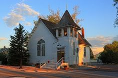 Ruth Memorial Chapel, Parker, Colorado. This is where we got married!! I love that chapel and Mainstreet :)