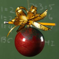 Cute ornaments for Teachers DIY...great christmas gift.