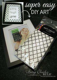 SUPER EASY DIY ART!! -
