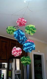 http://twosidesoftherainbow.blogspot.com/2011/03/tissue-paper-chandelier.html