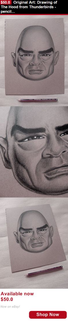 Drawings art: Original Art: Drawing Of The Hood From Thunderbirds - Pencil On Paper 9 X 11 BUY IT NOW ONLY: $50.0