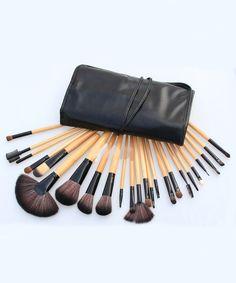 24pcs Professional Cosmetic Makeup Brush Set with Balck Bag 12.99