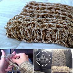 Arm Knitting is very fun . Knit a blanket in just 45 minutes using your arms as the needles.  Check tutorial--> http://bit.ly/1zDhUsY