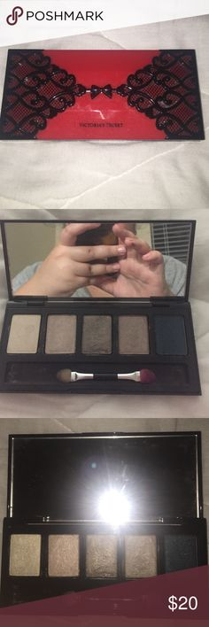 VS EYESHADOW PALETTE Rare. Haven't used, just swatched and has been laying around in my makeup bag! Victoria's Secret Makeup Eyeshadow