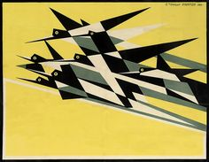 "Midcentury book cover art. Edward McKnight Kauffer, Daily Herald""the Early Bird"", 1918. via Storybird"