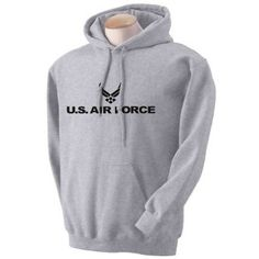 Air Force Hooded Sweatshirt - Military Style Physical Training Sweatshirt in Gray $16.99 - $21.99