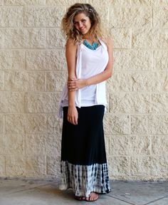 Black & White Tye-Dye Maxi : Cute Aprons - Cute Dresses - Cute Maxi Skirts - Cute Gifts - Daisy Shoppe