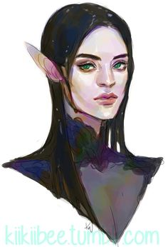 I had a terrible need to re-do Petrol's character portrait. (My Polychromatic/Blightbent Changeling… She's one oily lady.)