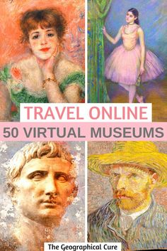 If you need some online cultural inspiration, this guide's for you. I take you to 23 world class museums that boast excellent online collections and virtual tours. You can admire masterpieces in high resolution right on your computer or phone. 360 Virtual Tour, Virtual Travel, Museum Of Fine Arts, Museum Of Modern Art, Rodin Museum, Virtual Field Trips, Virtual Museum, Destinations, Culture Travel