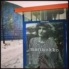 #Marimekko ad #busstop #viikki #helsinki 7.3.16  #stripes #vintage #Finnish #design #classic #räntää