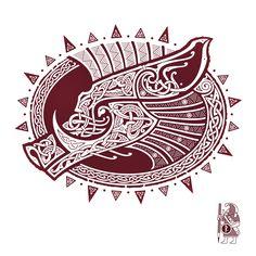GULLINBURSTI. Freyr's Boar knotwork Tattoo design by RAIDHO