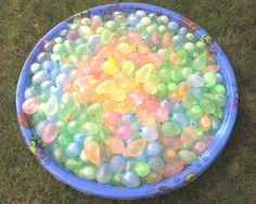 water ballons in a plastic pool for any summer get-together.