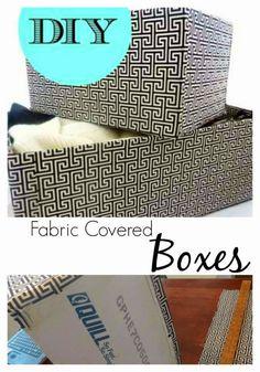 Turn old boxes into stylish storage!