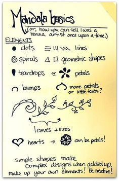 "A ""how To"" For Mandala – Excellent For Smash Book Doodles! Mandalatutorial4.jpg By Honeyandollie, Via Flickr - Click for More..."