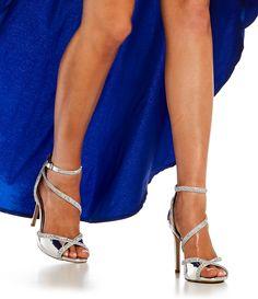 788367d455b Gianni Bini Rosalynd Metallic Synthetic Mirror Ankle Strap Dress Sandals